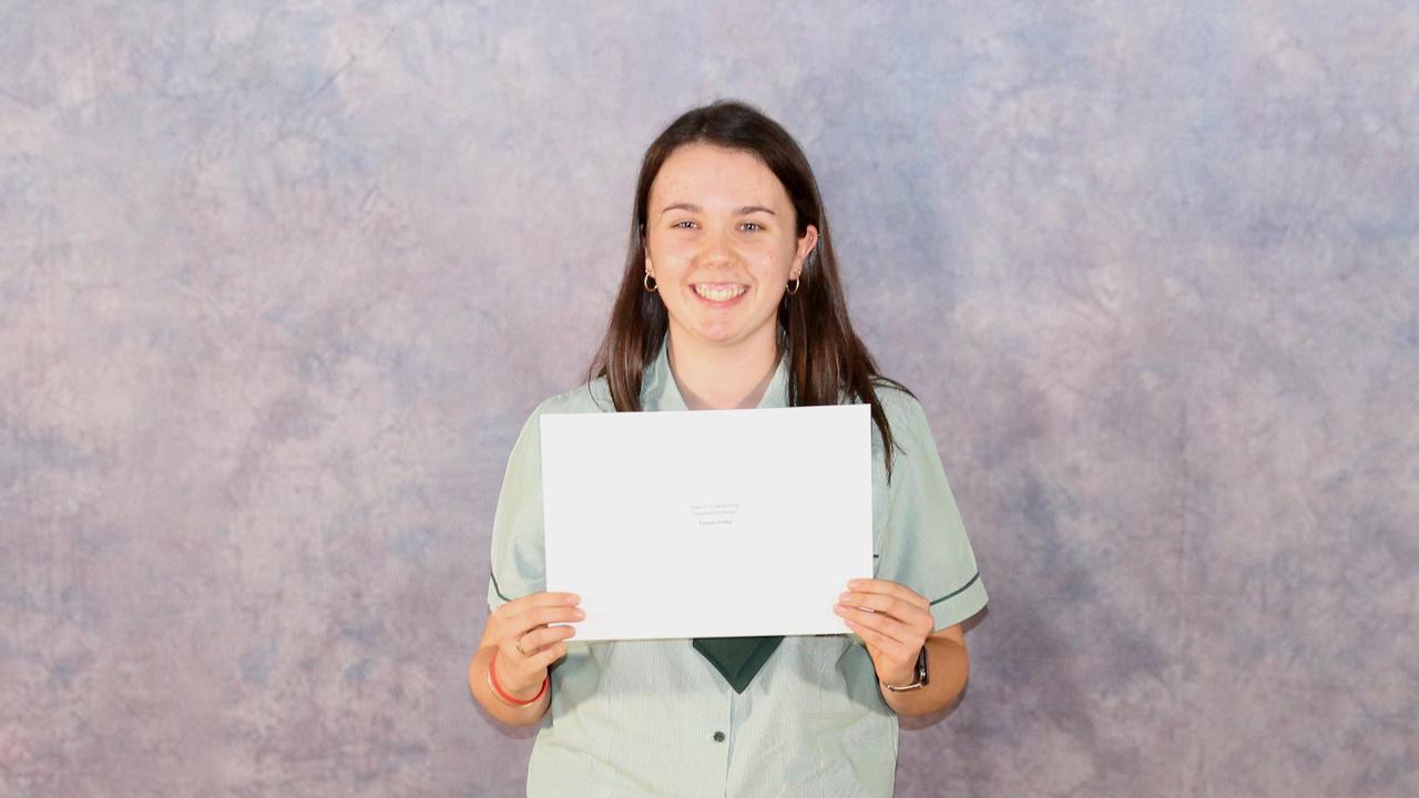 Proserpine State High School Year 11 Leadership Teamwork Award winner Tessa Jolley. Picture: Supplied