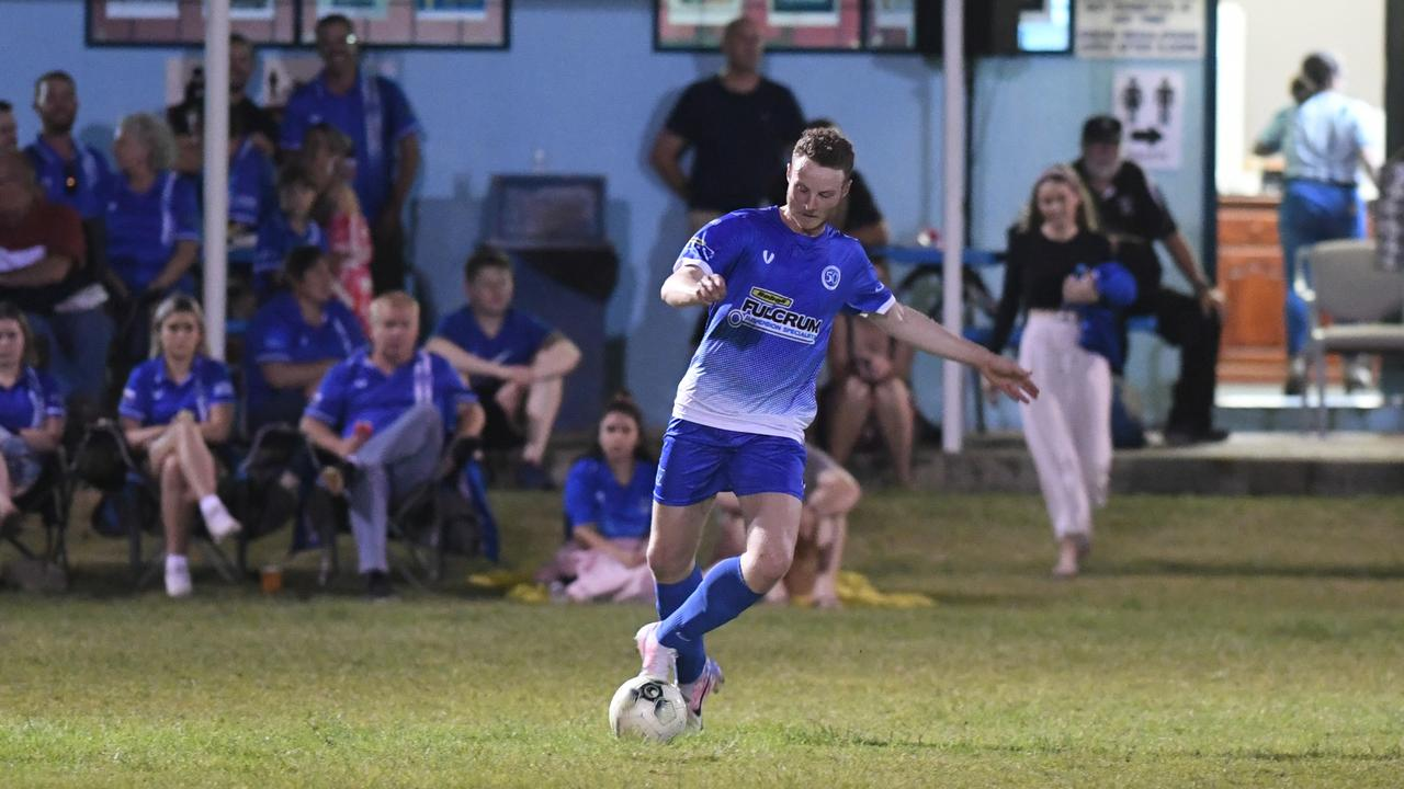 Liam McLean will be a key figure for Bluebirds United in their grand final clash with Frenchville. Photo: Jann Houley