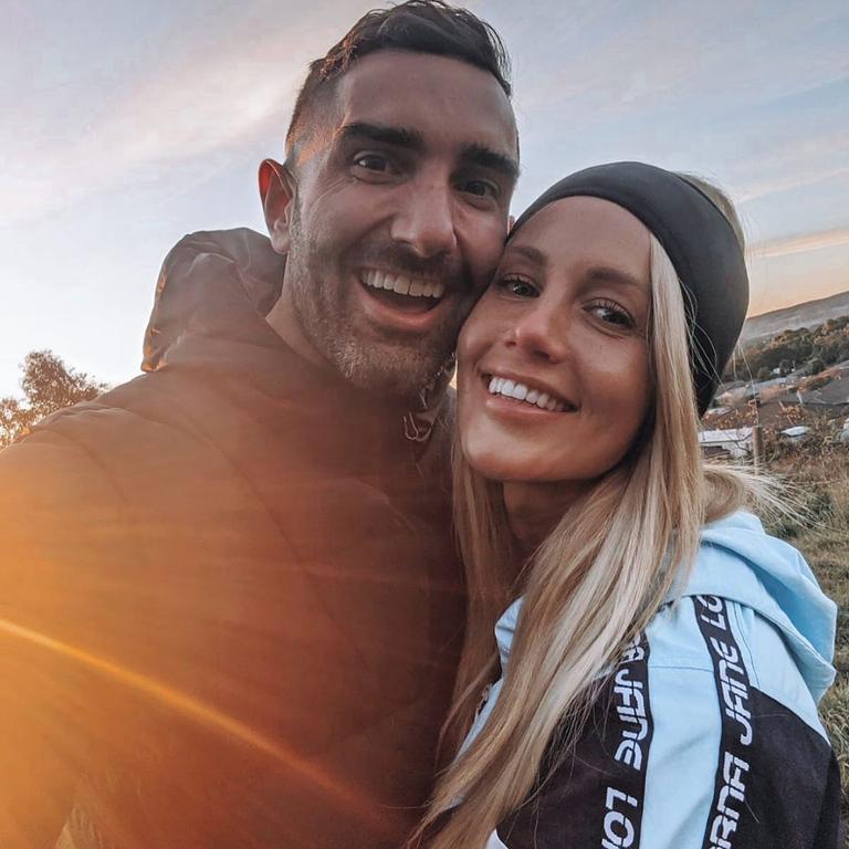 In happier times with ex-boyfriend Taite Radley. Picture: Instagram