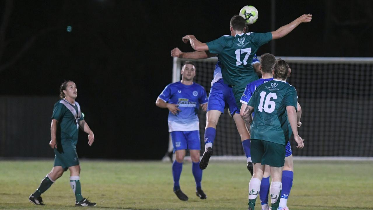 Frenchville and Bluebirds United will meet in the CQ Premier League grand final on Saturday night at Ryan Park. Photo: Jann Houley