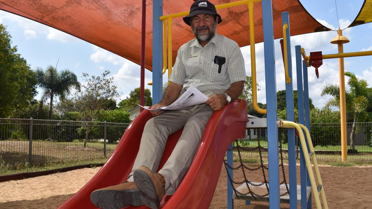 Mackay Regional Council councillor Laurence Bonaventura at Nell Baker Park, which is set for a major playground upgrade. Picture: Zizi Averill