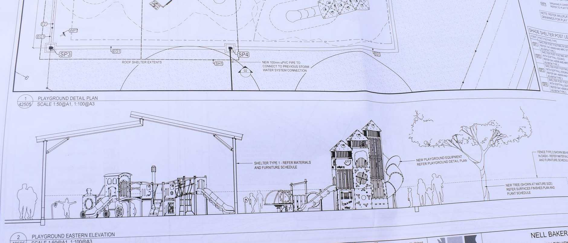 Mackay Regional Council has unveiled draft plans for the Nell Baker Park upgrade at Marian. Picture: Zizi Averill