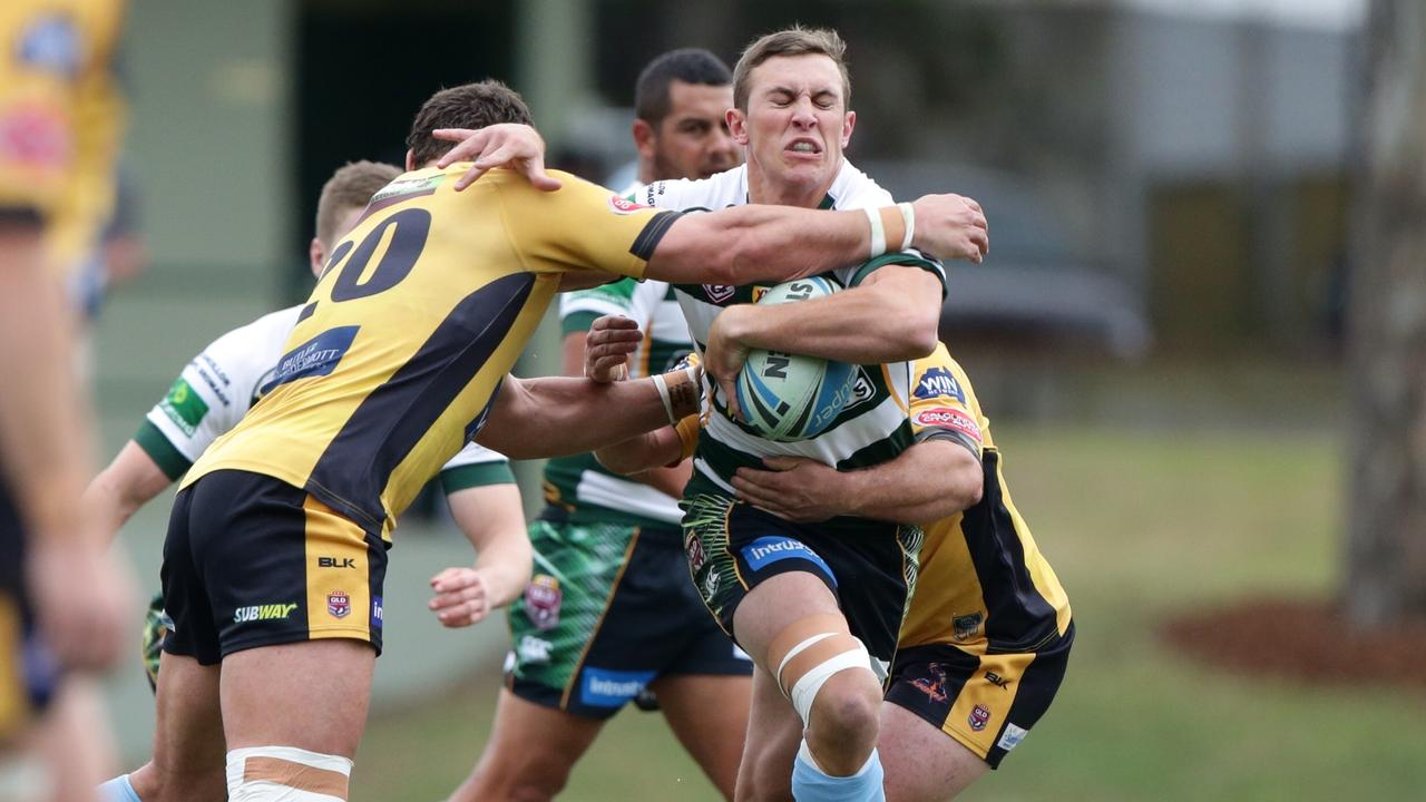Kurt Capewell playing for the Ipswich Jets in 2015. Picture: Liam Kidston.