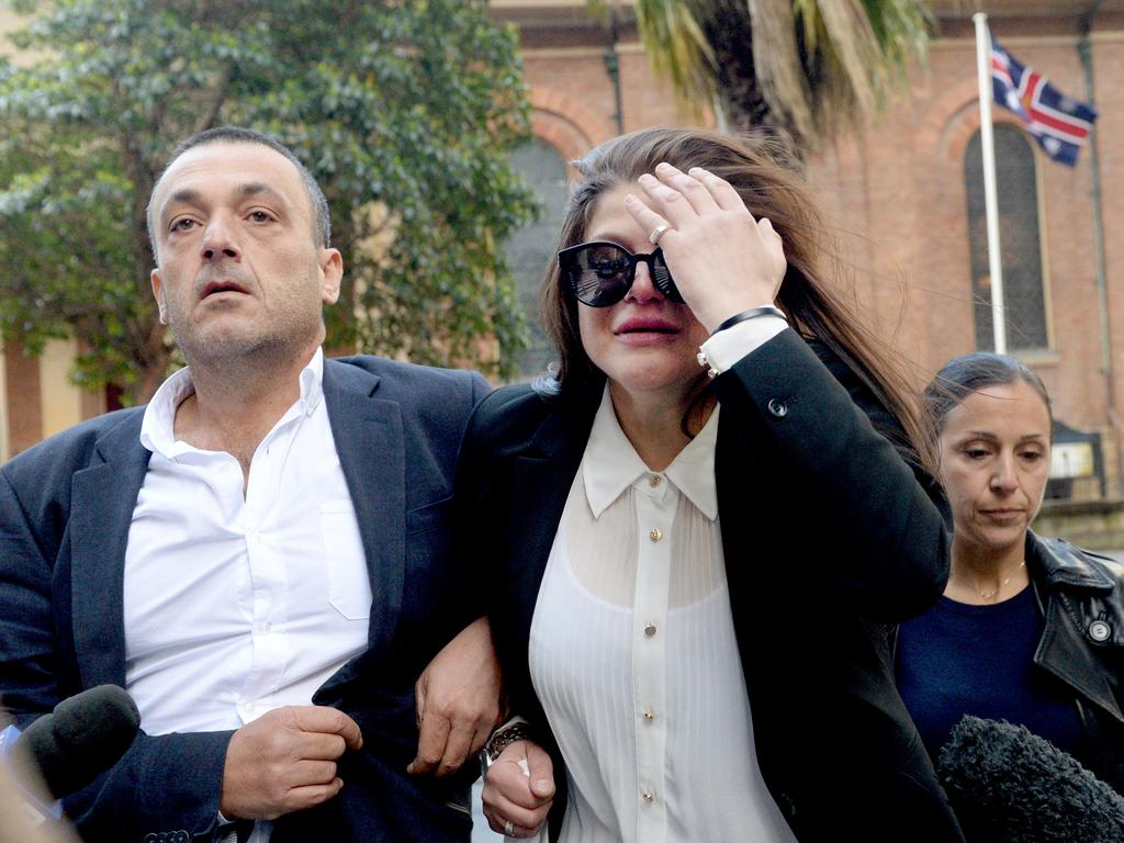 Katherine Abdallah leaves court after being found not guilty of the manslaughter of her cousin Suzie Sarkis. Picture: NCA NewsWire / Jeremy Piper