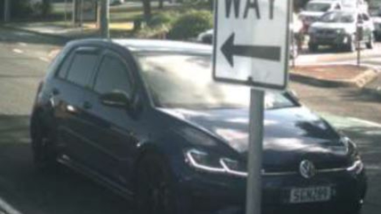 A missing blue Volkswagen hatch (Queensland registration SGN-289) that was allegedly purchased with illegal cheques. Picture: Police Media