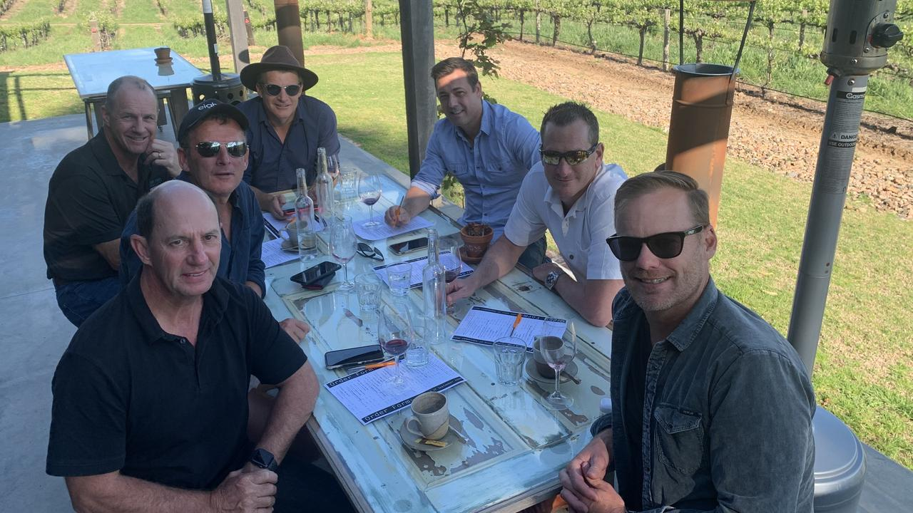 Travis Schultz and a group of mates travelled to David Franz in the Barossa, SA.