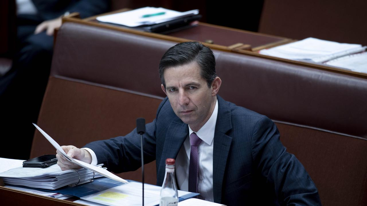 Senator Simon Birmingham is seeking further clarification from the Chinese government on the situation. Picture: NCA NewsWire / Gary Ramage