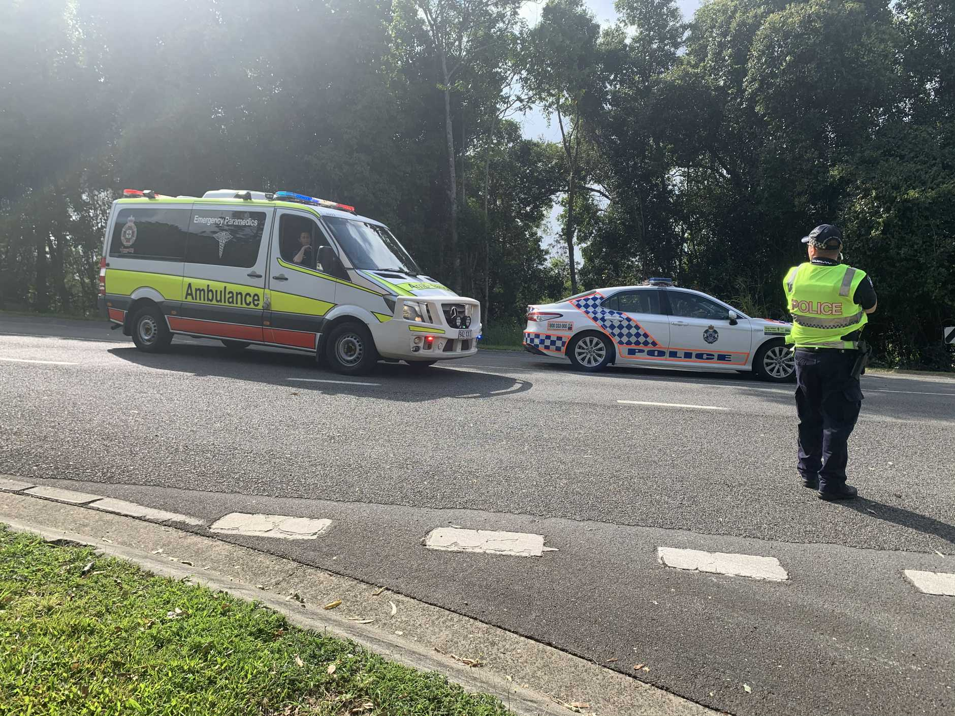 A motorbike rider has died in a crash at Black Mountain.