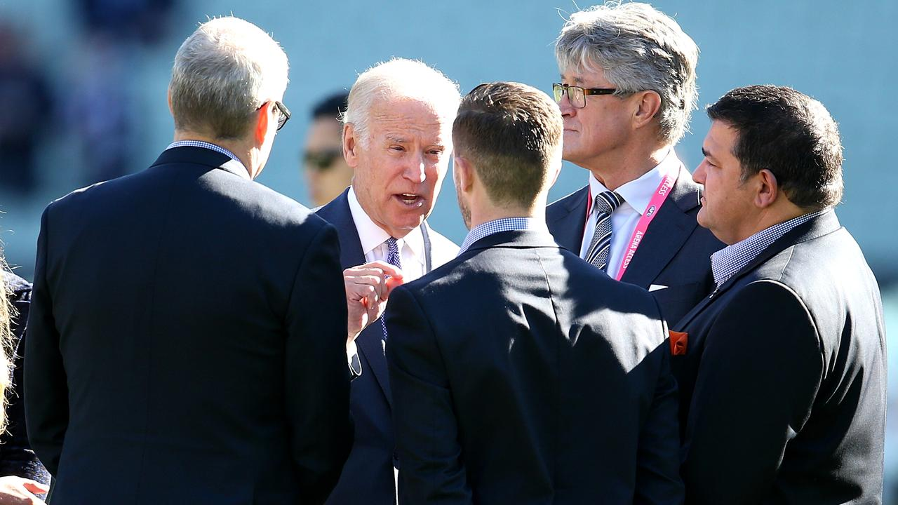 AFL 2020: Marc Murphy speaks about his moment with Joe Biden