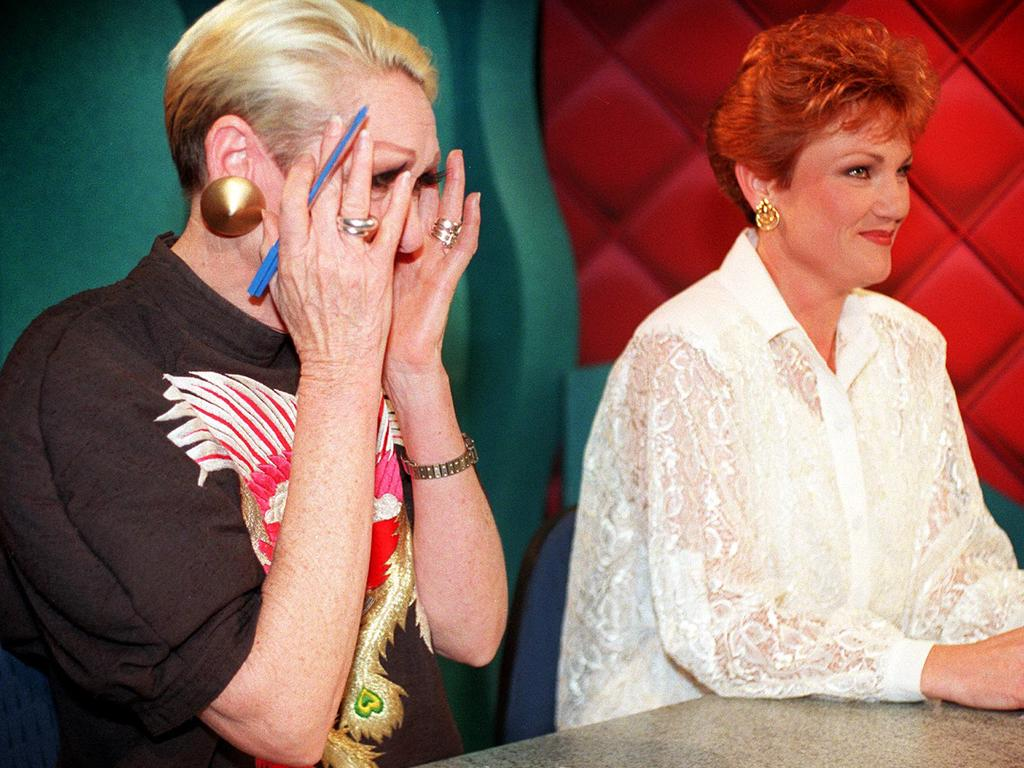 Jeanne Little and Pauline Hanson on Beauty & The Beast.  Image: Delivered