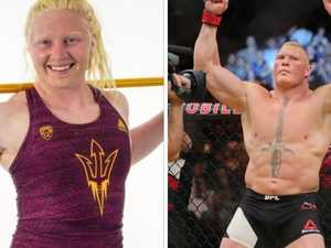 WWE legend's daughter an athletic freak