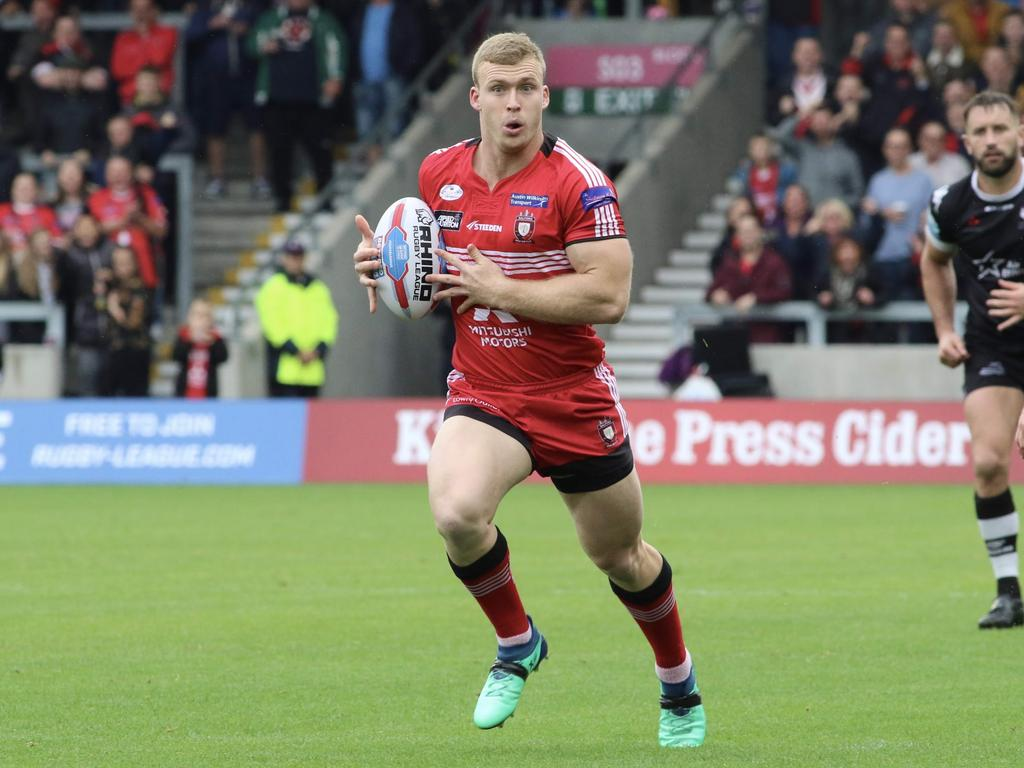 Joey Lussick found form playing for Salford in the UK.