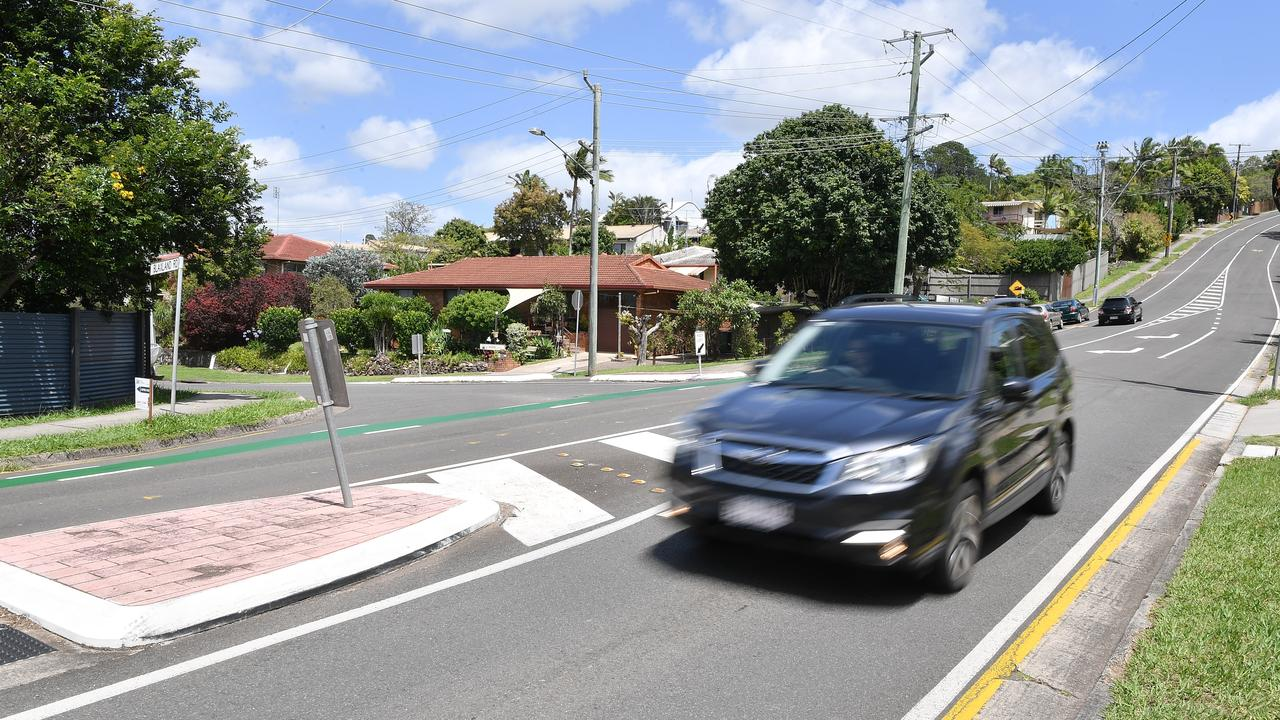 Nambour Forensic Crash Unit officers say visibility is an issue for motorists using the junction of Blaxland and Carter roads in Nambour. Photo: Patrick Woods