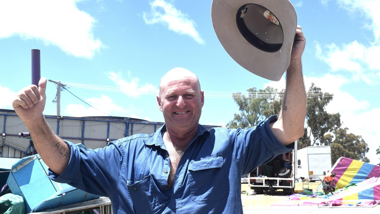LET'S GO: Stanthorpe Agricultural Show Society president Brett Boatfield isn't concerned by being the first cab off the rank.