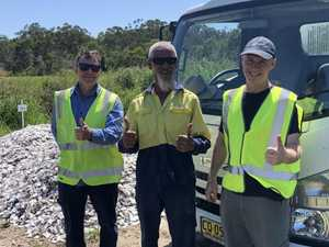 Noosa's oyster reef hopes stack up at local dump