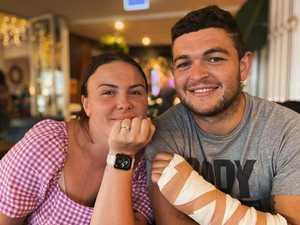 NRL star pops the question on Fraser Island