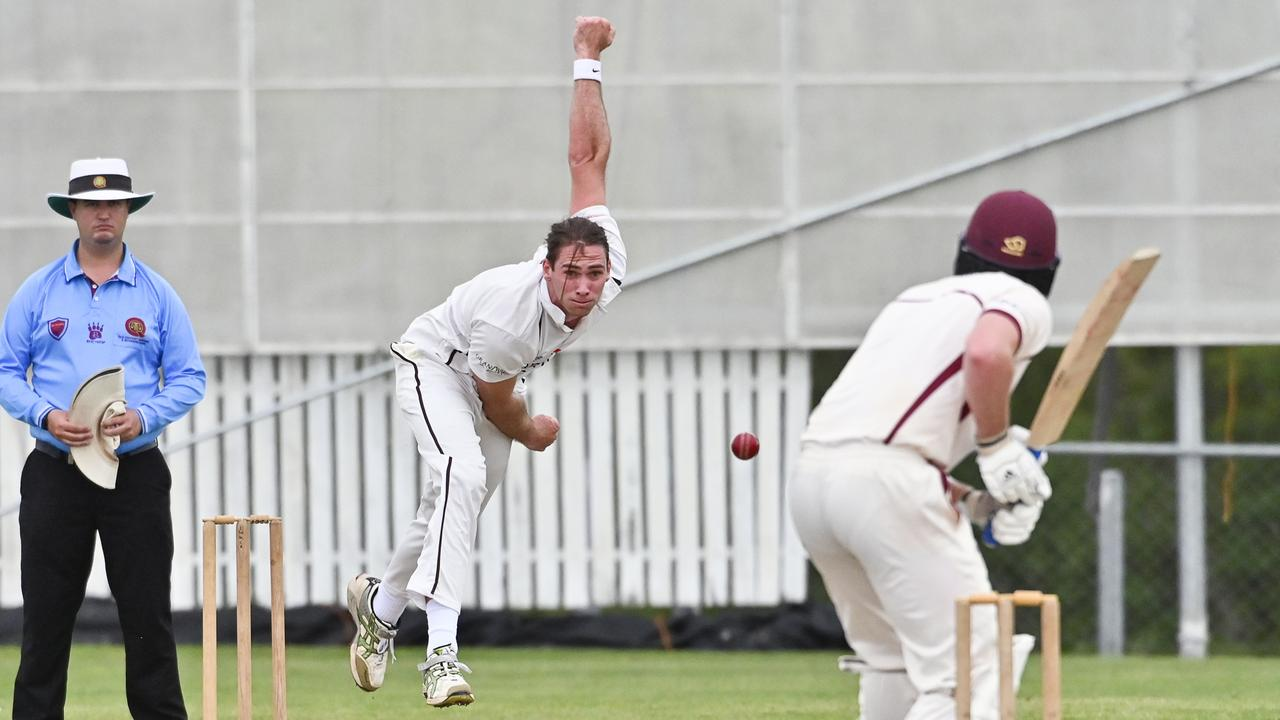 Ipswich Hornets fast bowler Adam Smith delivered one of his most successful spells in the latest Queensland Premier Grade clash with Toombul. Picture: Cordell Richardson