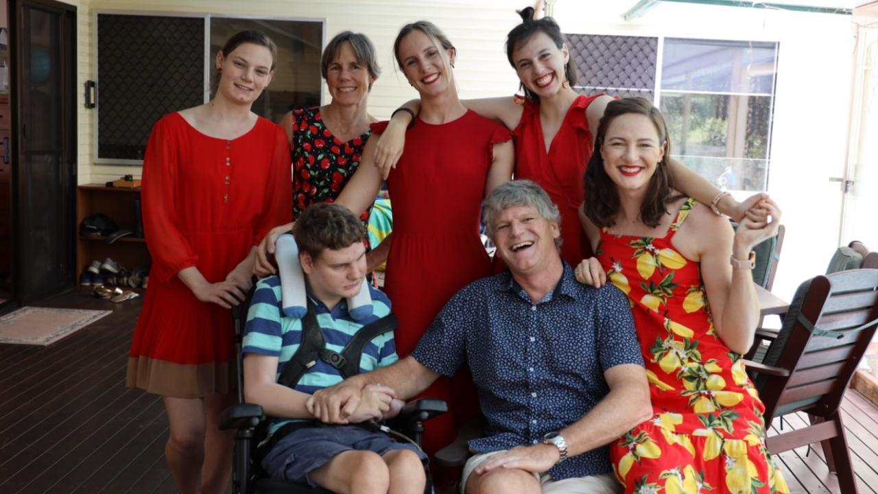 The Campbell family: Back row from left: Abigail, 19, Mum Jenny, Olympian Bronte, 26, Jessica, 24. Front Row: Hamish, 22, Dad Eric and three-times Olympian Cate, 28. Photo: Supplied.
