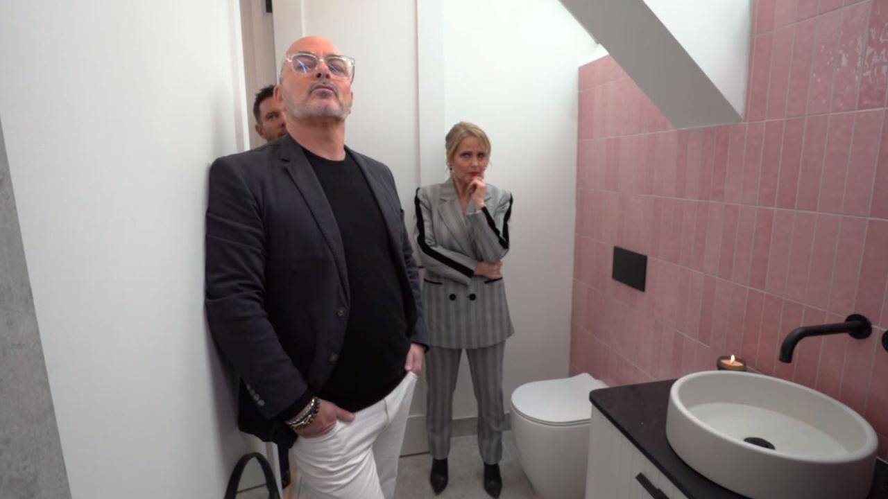 The judges prefer to live in a world where they don't have to acknowledge the existence of toilets, like this one in Harry and Tash's studio.