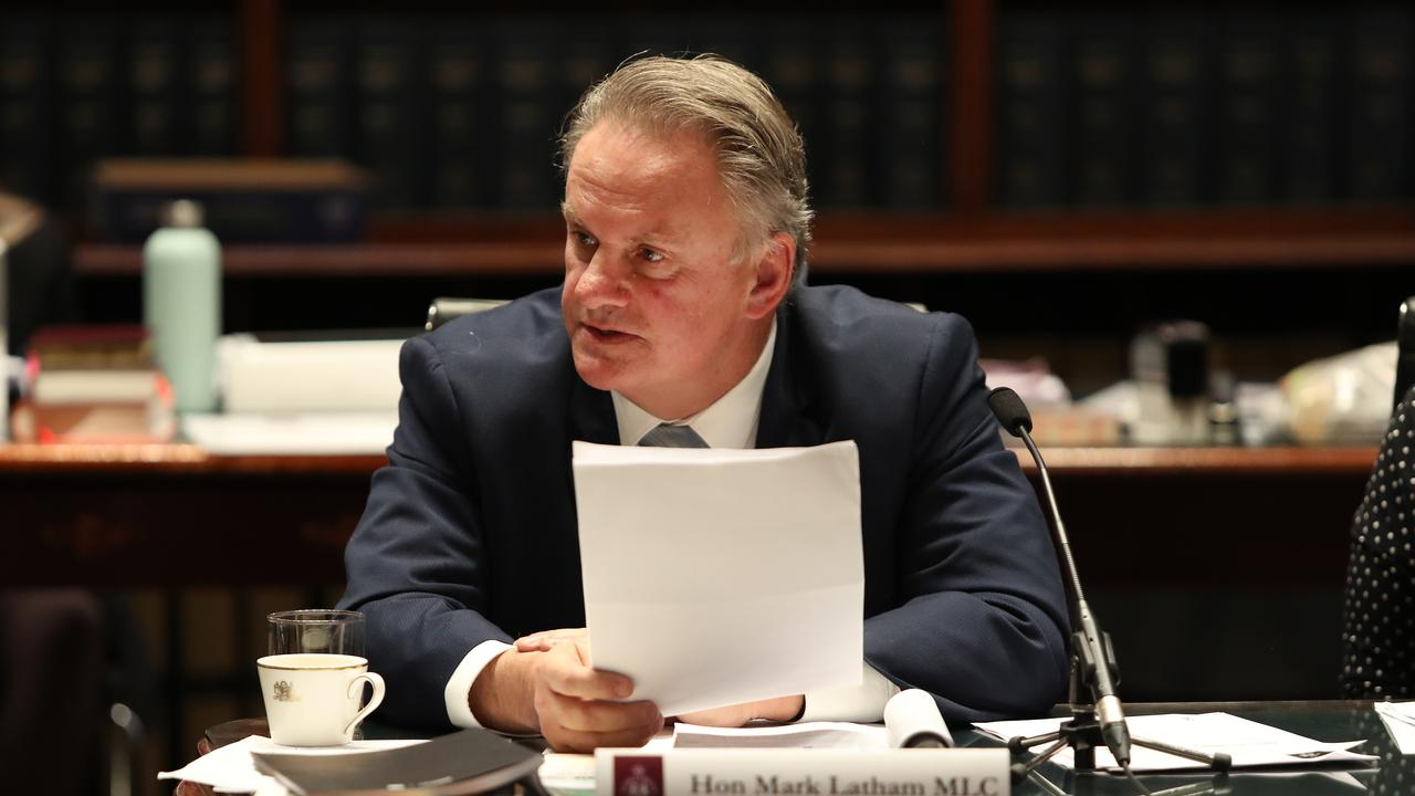 One Nation MP Mark Latham is upset at the questionnaire. Picture: Richard Dobson