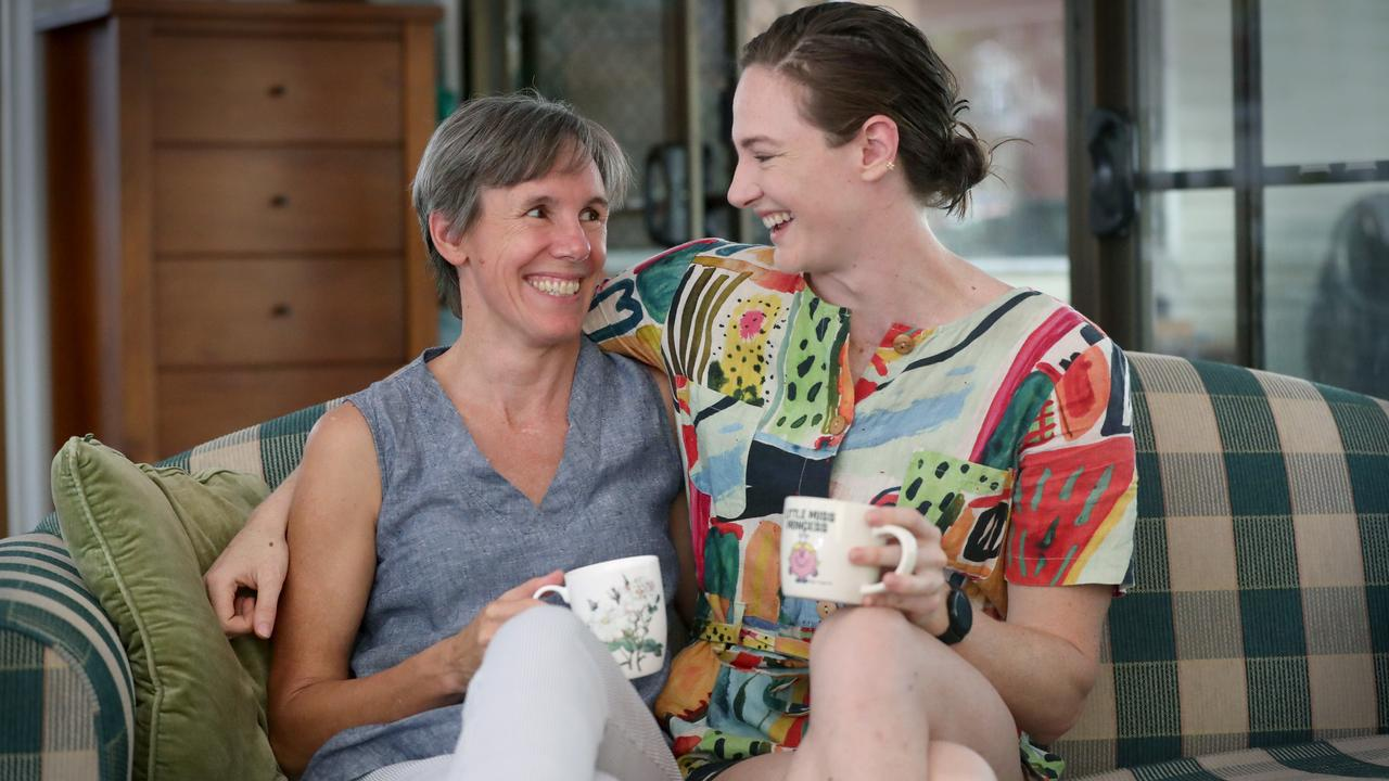Cate Campbell and her mum Jenny. Photo: Jamie Hanson.