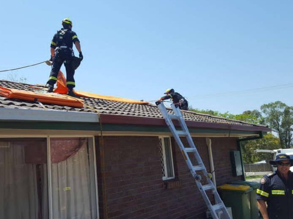 Many homes southwest of Brisbane were damaged in recent storms. Picture: QFES