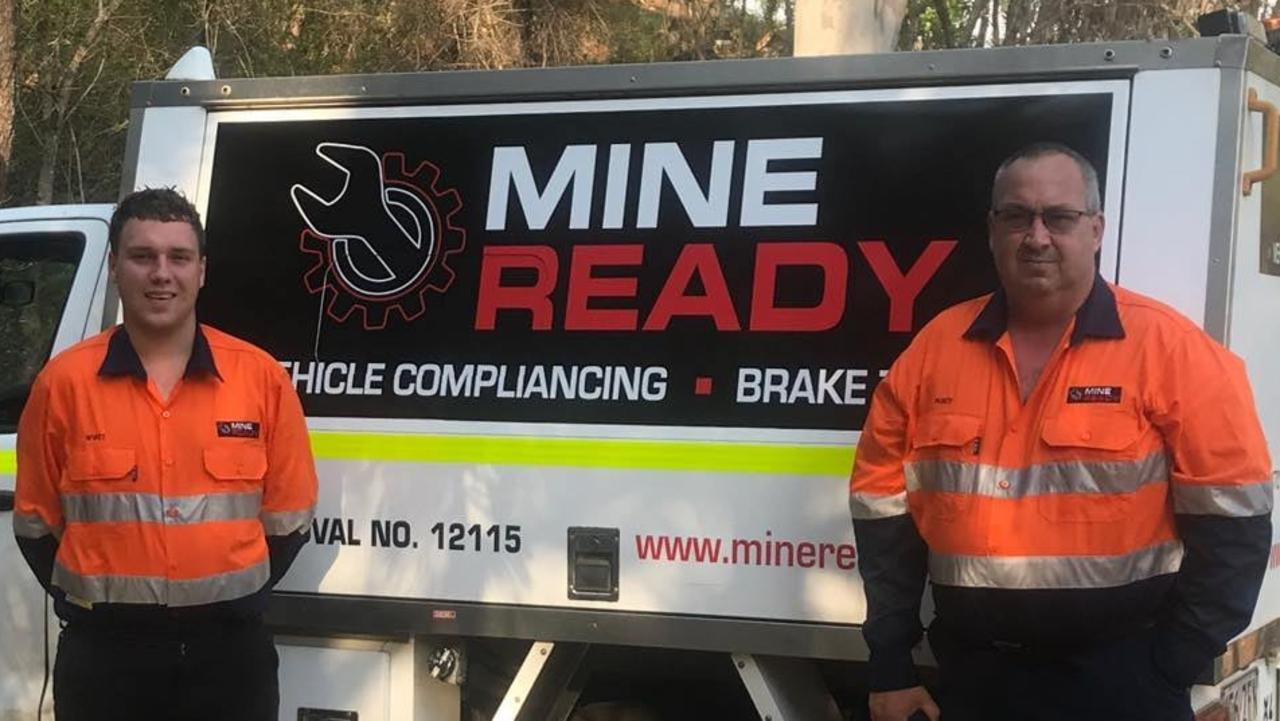 Father and son team Percy (right) and Wyatt Dawson are the faces behind Rockhampton newest business Mine Ready. Picture: Contributed