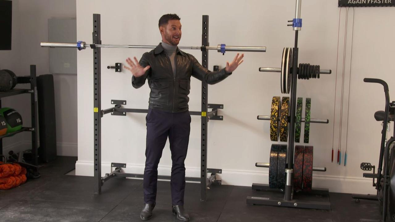 Darren Palmer was delighted with Jimmy and Tam's home gym.