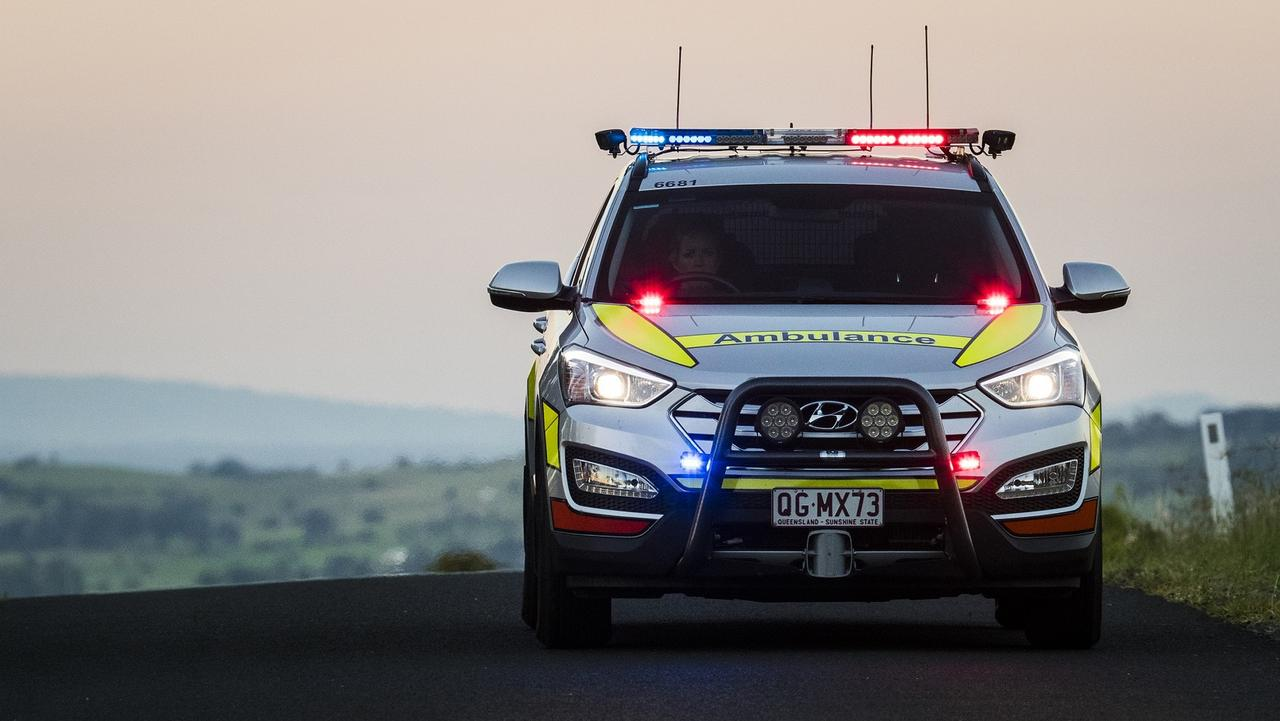 A Queensland Ambulance Service spokeswoman said the man was injured in the single-vehicle crash at the Holdings Rd intersection, Mt Pelion, at 1.05am.