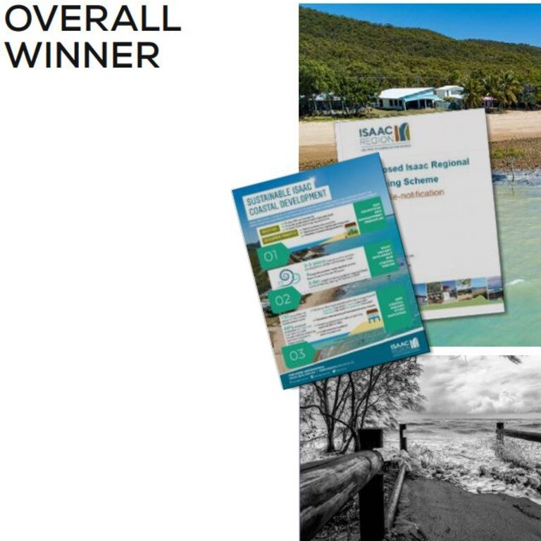 Isaac Regional Council has been recognised for its coastal planning policies