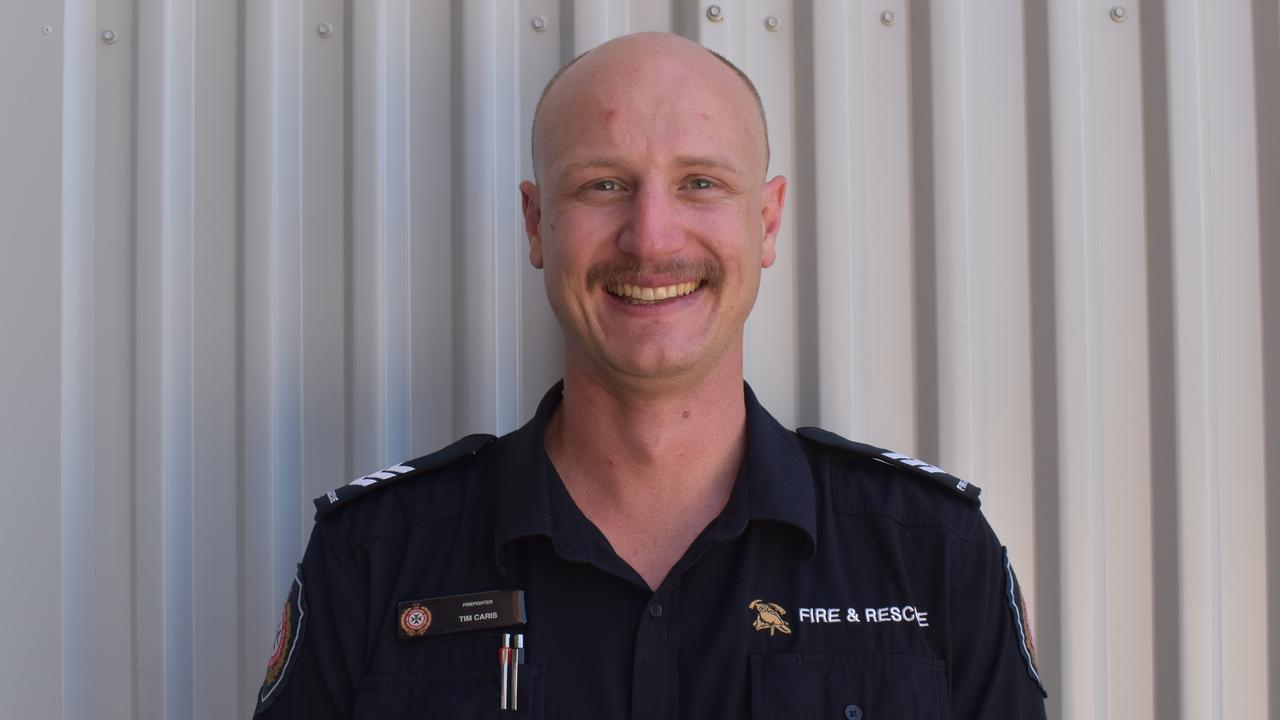 Queensland Fire and Emergency Services firefighter Tim Caris is taking part in Movember at the Mackay Fire Station, Alfred St. Picture: Zizi Averill