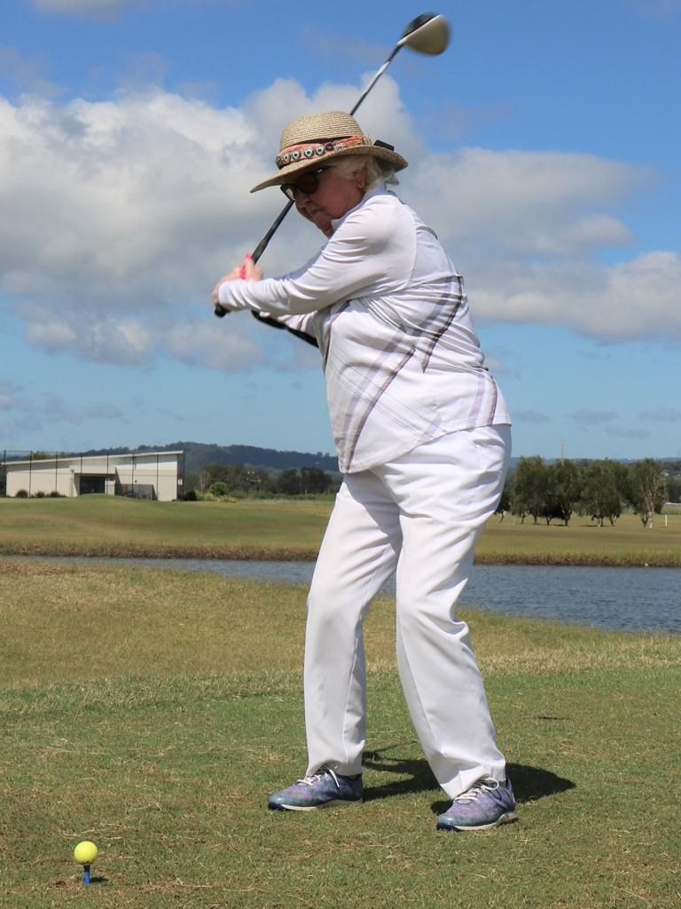 Immanuel Gardens resident Mary Haddon celebrated her 100th birthday in style on the golfing range.