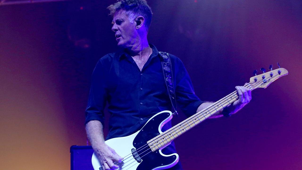 Midnight Oil bassist Bones Hillman has passed away aged 62. Picture: Patrick Gee