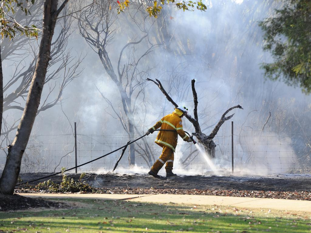 Firey's are on scene at a bushfire burning in dry Wooroolin swampland. File Photo.