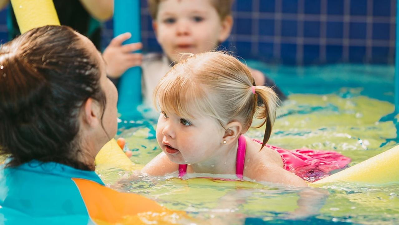 Children can become familiar and confident in the water from a young age. Photo: Summit Sport and Fitness Centre