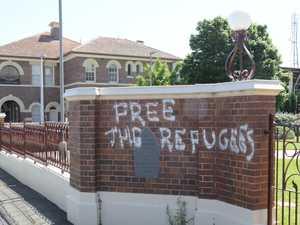 Men charged after Toowoomba CBD graffiti spree