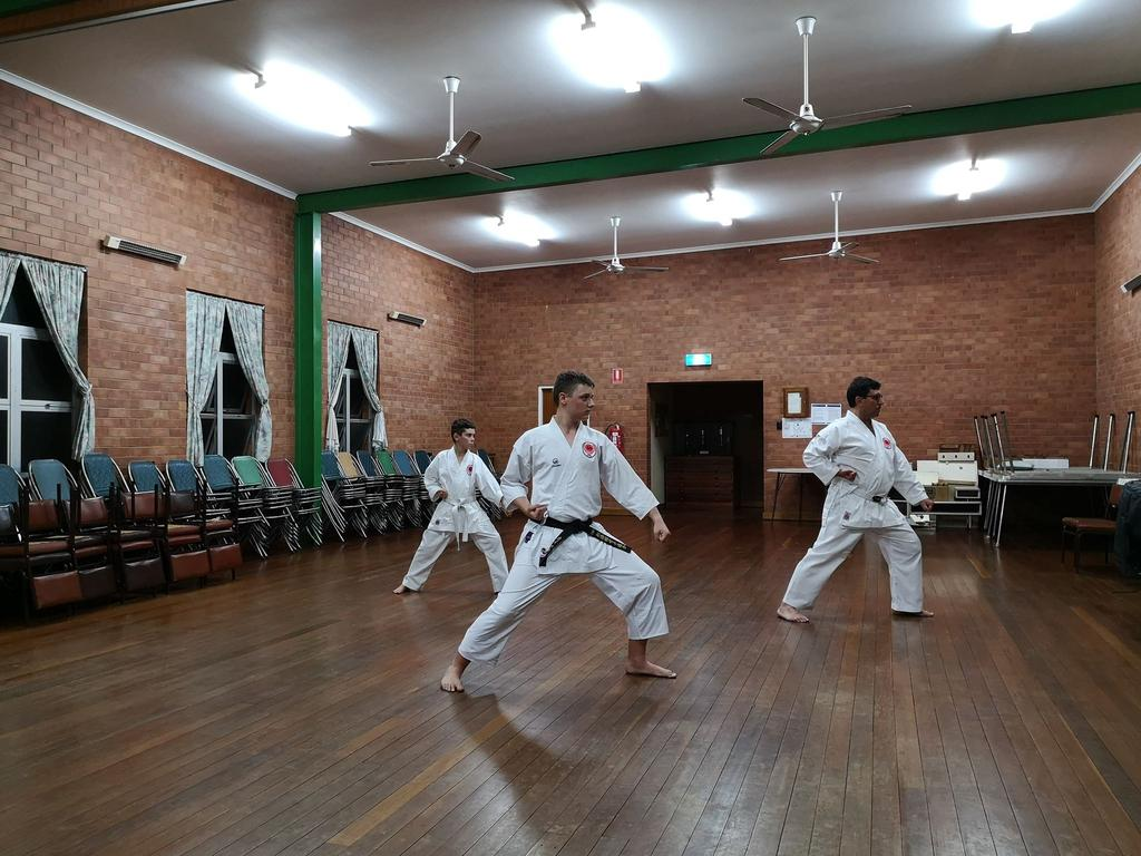 Representatives from Wondai joined their Kingaroy counterparts to complete 100 kata in 90 minutes. Photo/Damien Nicholson.