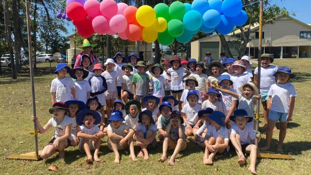 Students from five Mackay rural schools took part in North Eton State School's annual rainbow rush on Friday, November 6. Picture: Contributed