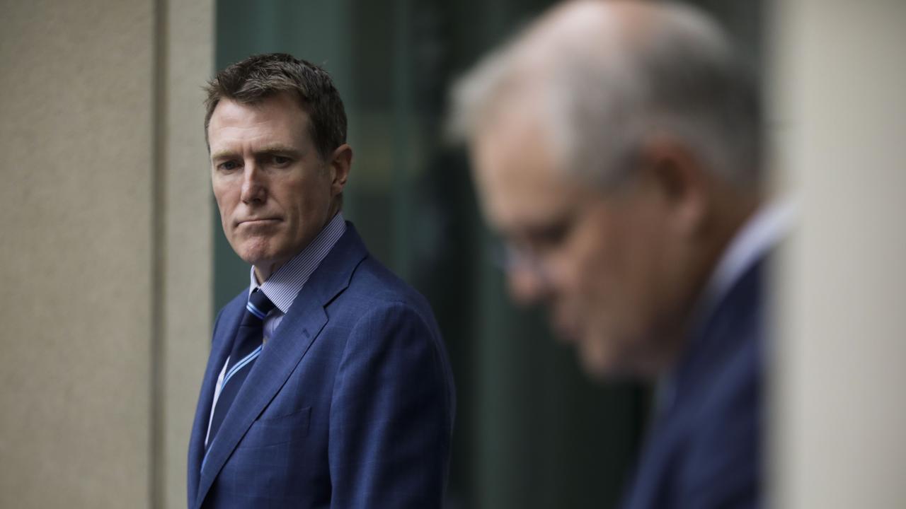 Mr Porter with Scott Morrison. Picture: Sean Davey