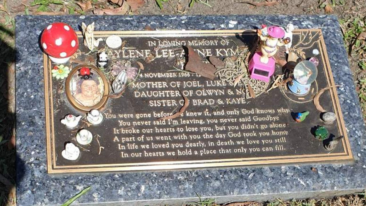 Kym Cobby's grave after items were removed. Picture: supplied.
