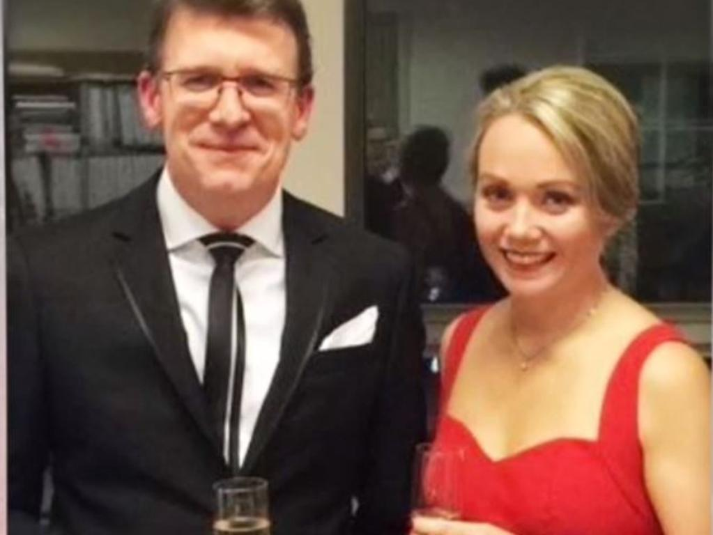 Minister Alan Tudge and staffer Rachelle Miller. Picture: Four Corners/ABC
