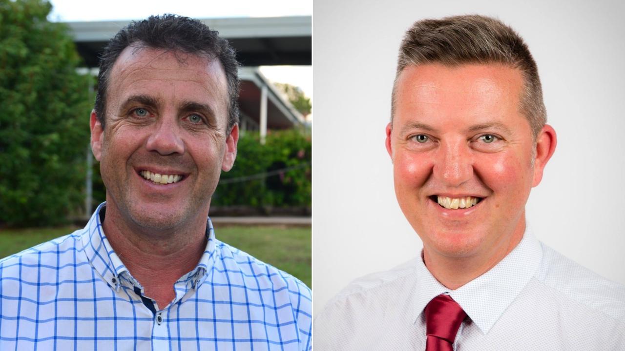 Member for Nicklin Marty Hunt and Labor candidate Robert Skelton.