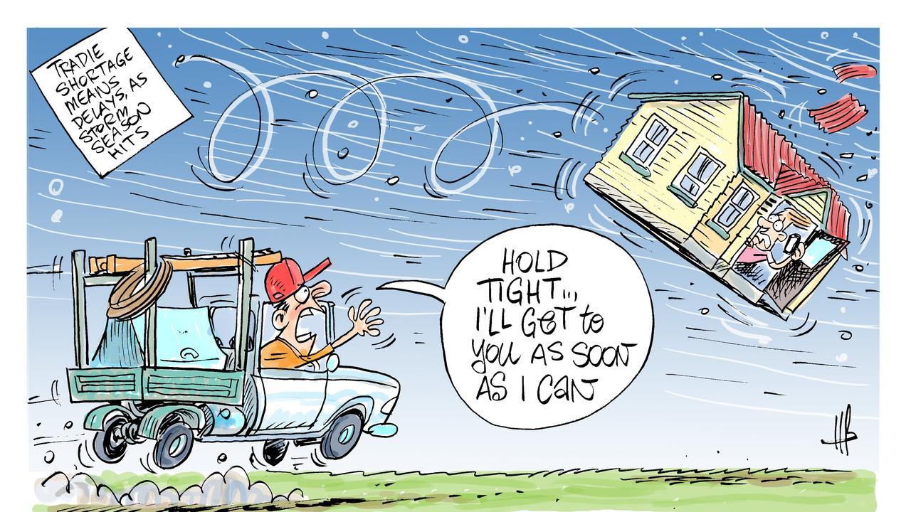 Harry's view on storm season tradie shortage.