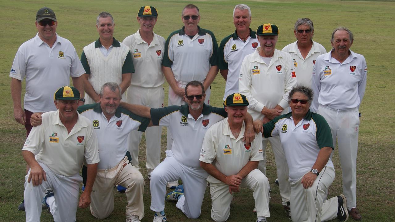 The premiership-winning Lockyer/Ipswich over 60's cricket side.
