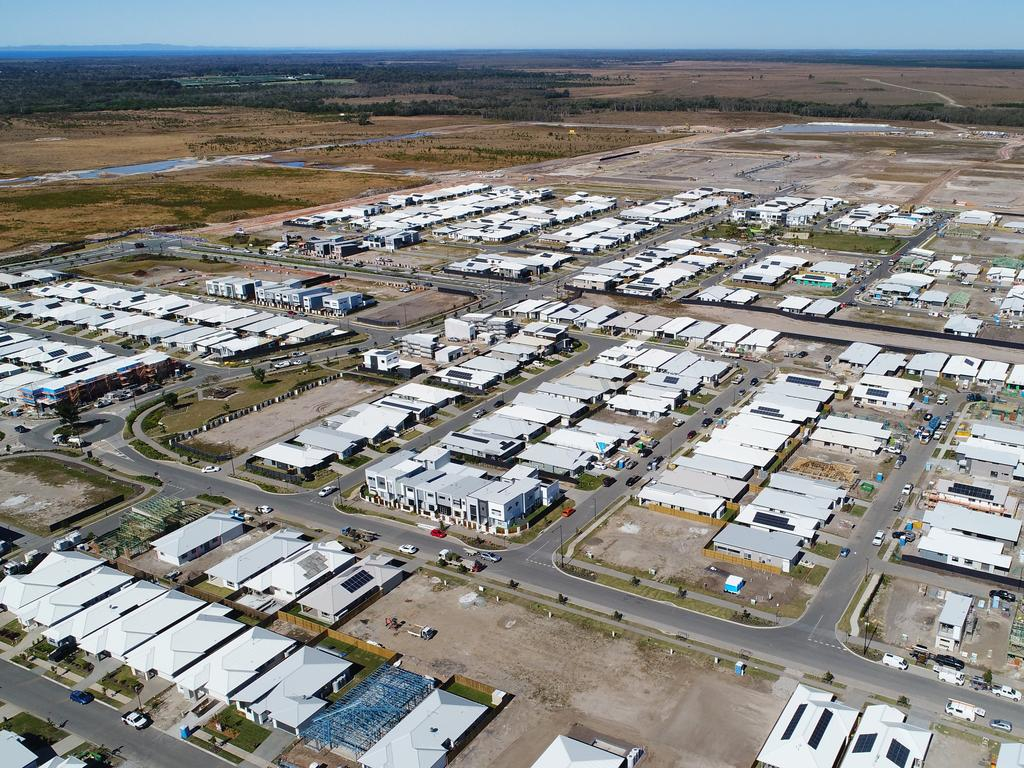 Aerial photos of new development near Nirimba at Caloundra South. Photo Patrick Woods