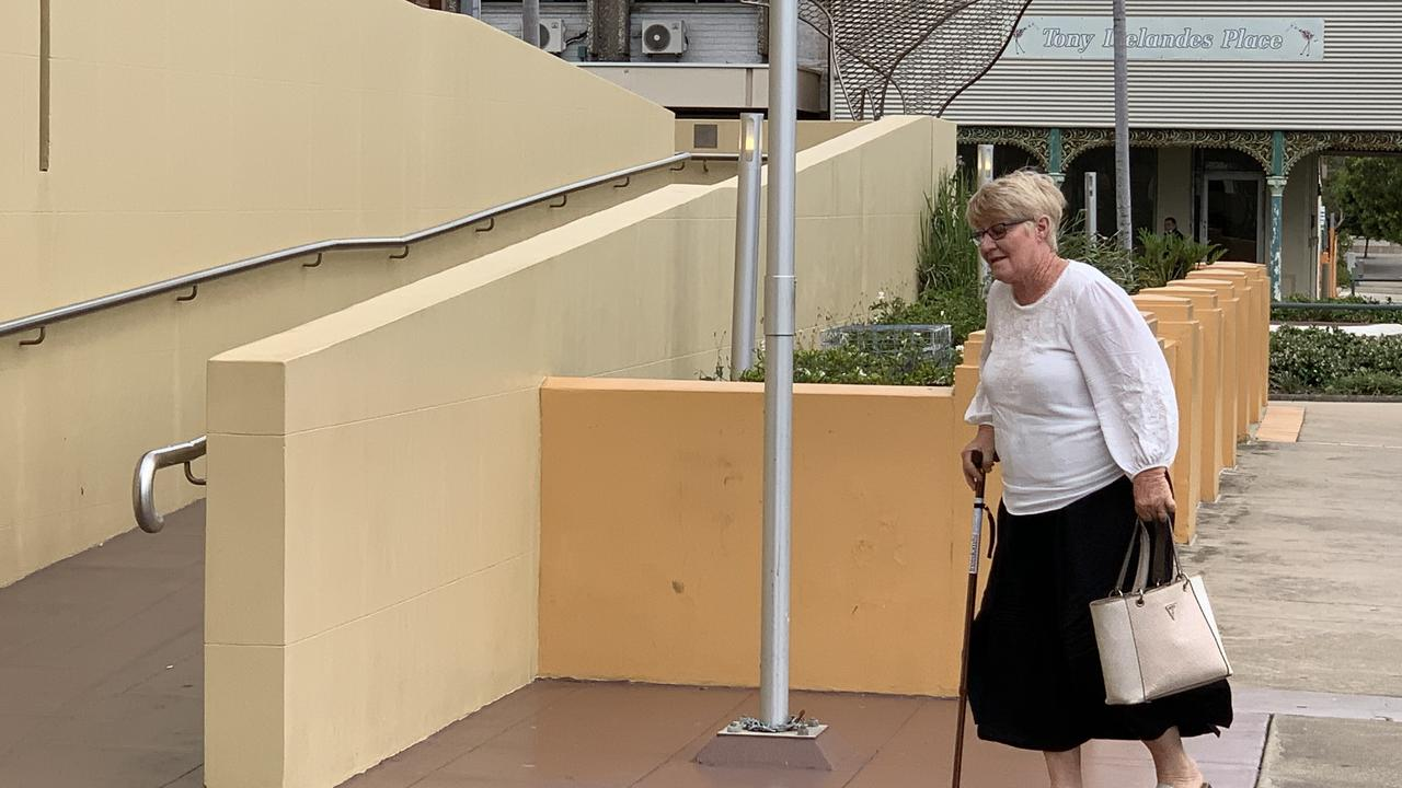 Elizabeth Anne Turner arrives at Mackay courthouse for day six of the attempting to pervert the course of justice and perjury trial against her. She has pleaded not guilty to the charges.