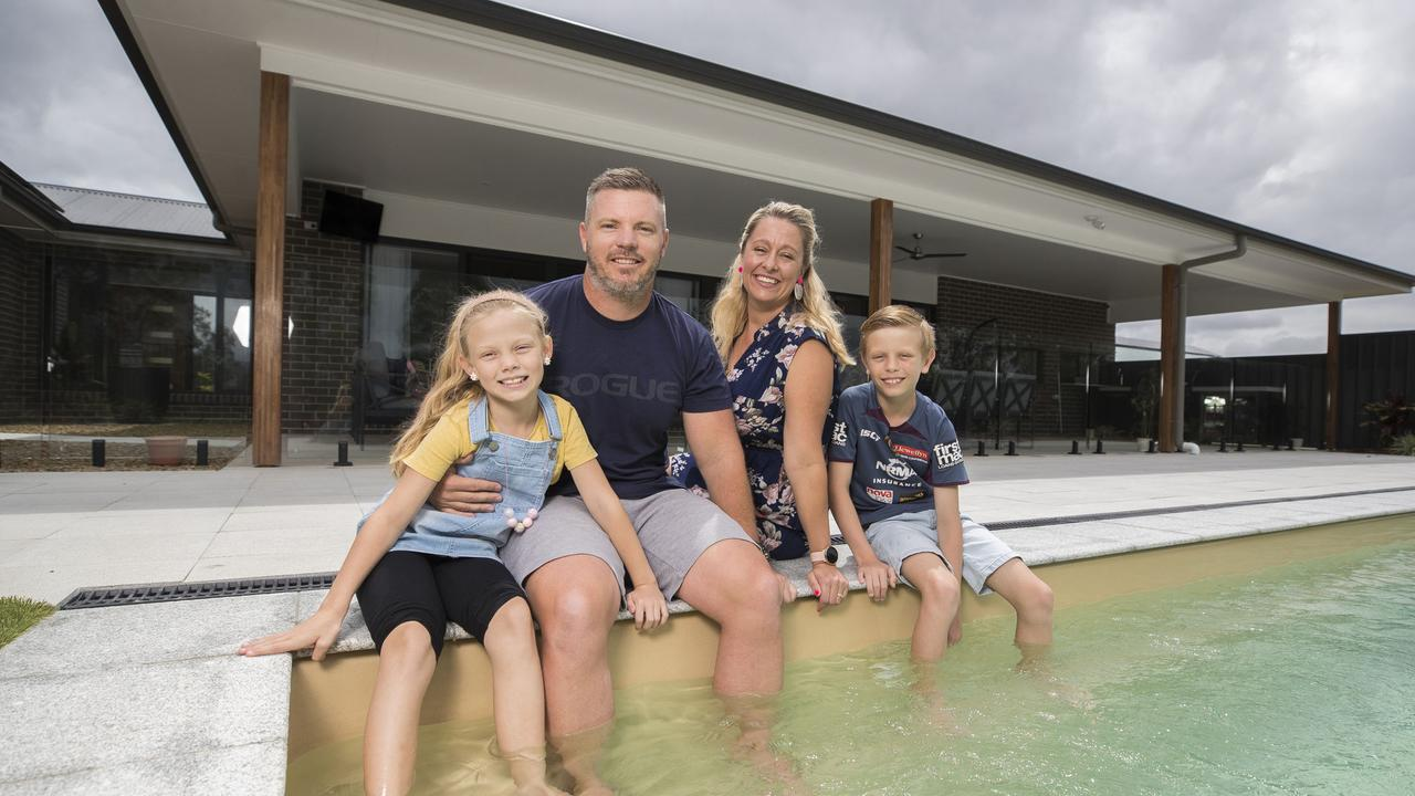 The Kiely family moved into their Delaney's Creek home earlier this year. Picture: Peter Wallis