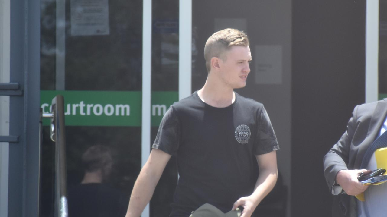 Jack Saunders leaves the Gatton Magistrates Court on Monday, November, 9, after being found guilty of animal cruelty. Photo: Hugh Suffell