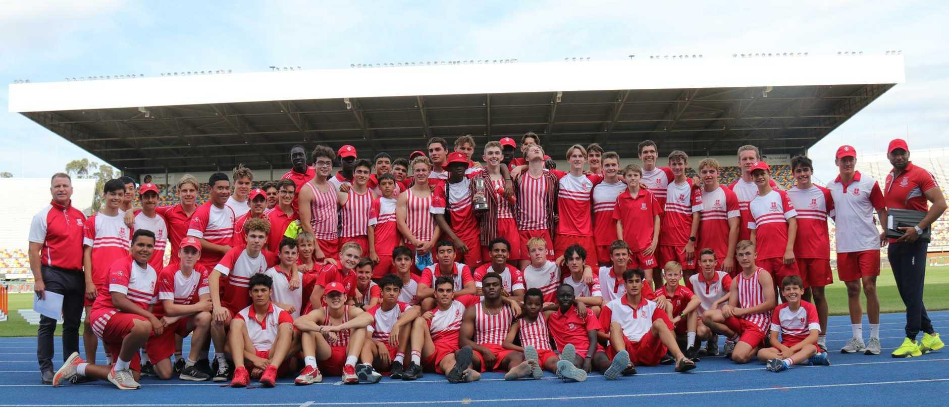 The successful Ipswich Grammar School track and field team.