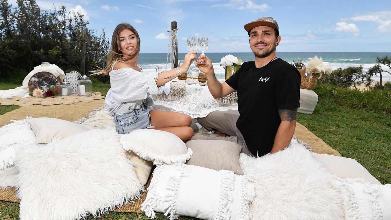 Sasha Kohls Sandretti and her partner Matteo Di Grazia have started a new luxury picnics business Bohemias del Amor Lux events. Picture: Patrick Woods / Sunshine Coast Daily.